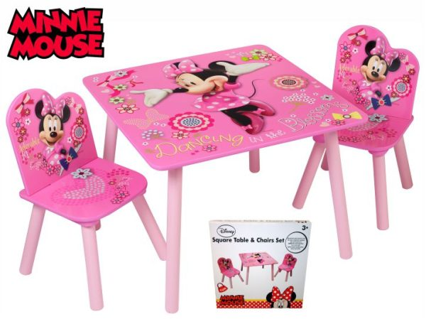 Minnie Mouse Stoel : Minnie mouse set stol sa dvije stolice u poklon kutiji kb d o o